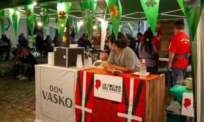 """""""Basque Stand,"""" at the Saint Patrick's Day festivities in Rio Cuarto in the province of Cordoba, Argentina"""