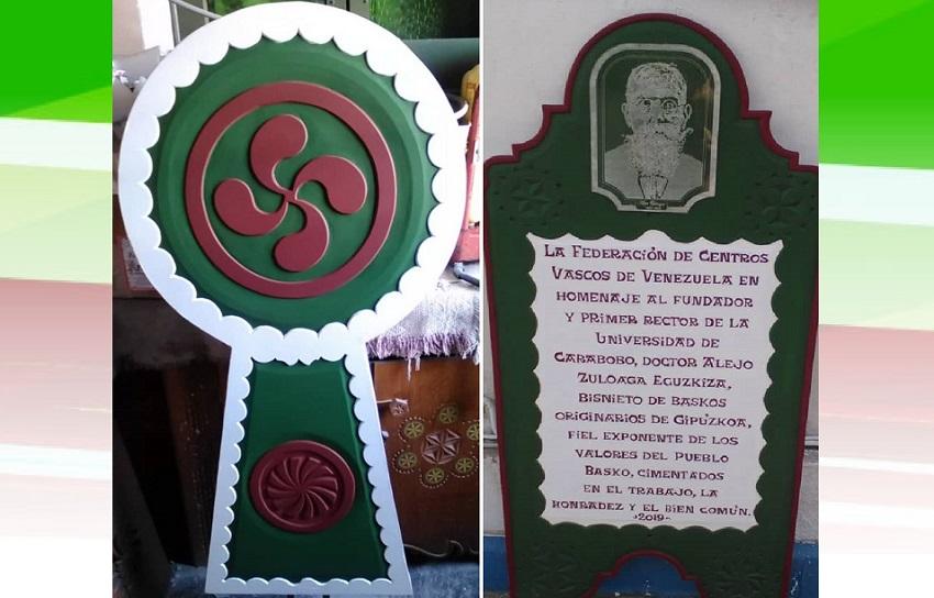 Alejo Zuloaga legegizonaren omenezko oroitarria Caraboboko Unibertsitatean