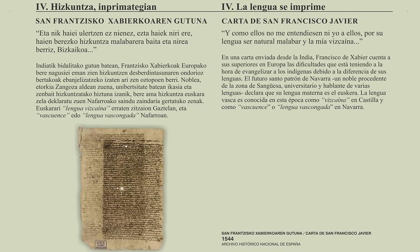 'Navarrorum, euskararen gaineko dokumentu nafarren bi mila urteko ondarea' erakusketa