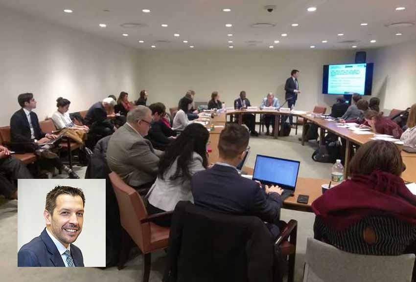 Euskadiren AEBetako ordezkari Jorge Fernandez Quintela Nazio Batuen UNDESA ekitaldian partaide