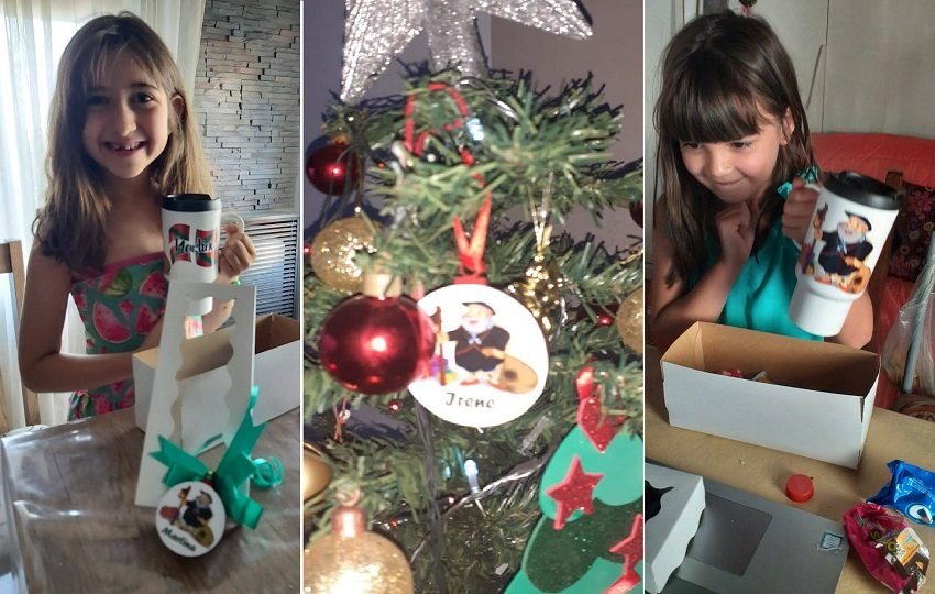 En navidad, los y las txikis del Gure Etxe Maitea recibieron regalos personalizados