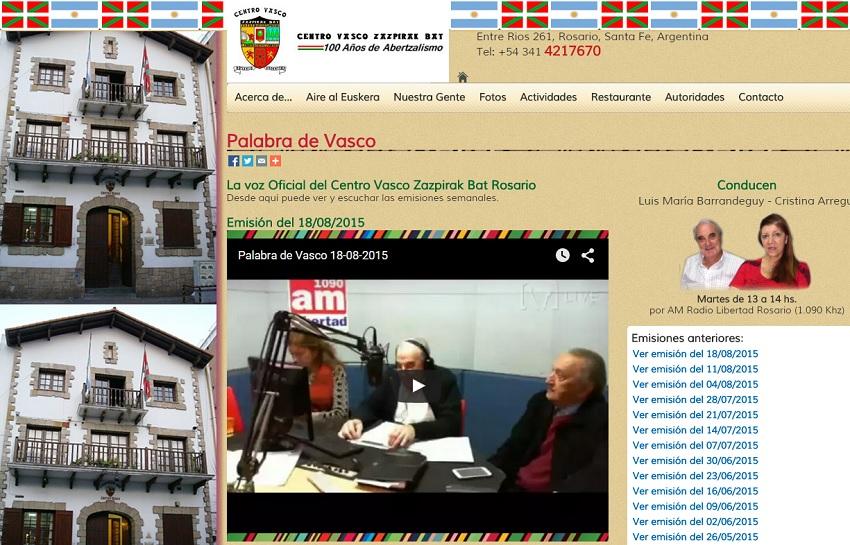 "From Zazpirak Bat's website you can now follow ""Palabra de Vasco"" live or listen to older recordings"