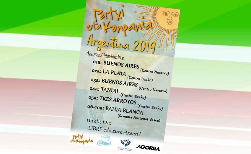 Patxi eta Konpainiaren 2019ko bira Argentinan