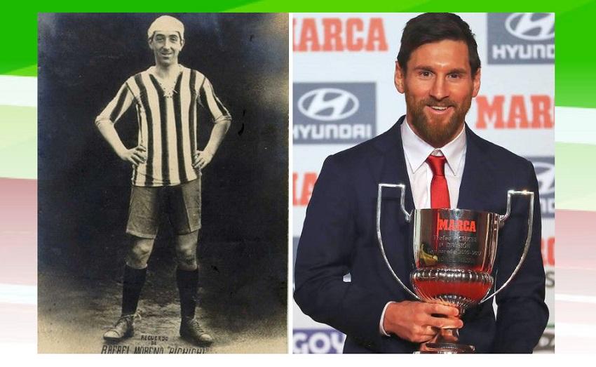 Rafael Moreno Aranzadi 'Pichichi' eta Lio Messi
