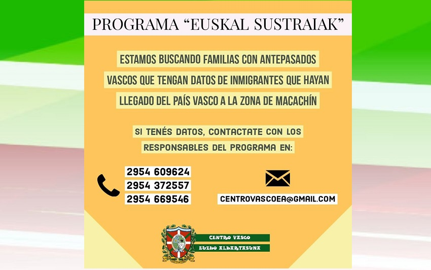 'Euskal Sustraiak: En busca de raíces vascas' proiektua