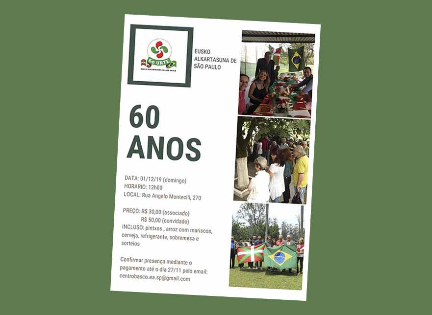 Sao Paulo Eusko Alkartasunak 60 urte
