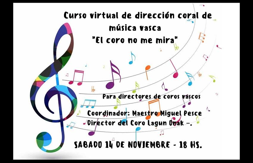 Curso de dirección coral de música vasca