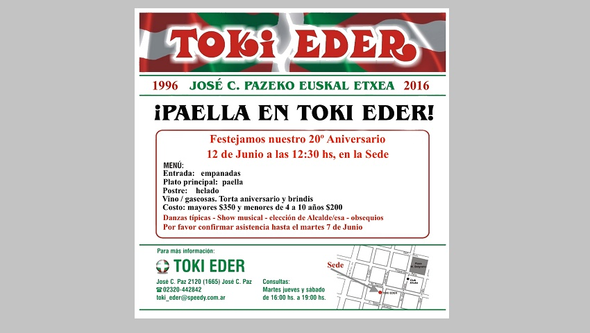 20º aniversario de Toki Eder