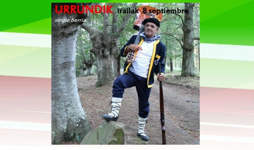 Portada del single 'Urrundik' de Joseba Gotzon