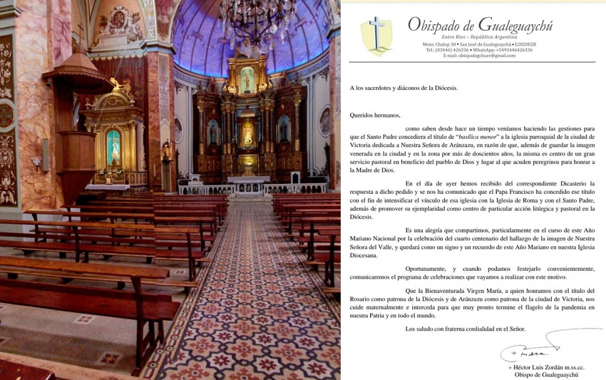 Nuestra Señora de Aranzazu, Basílica Menor