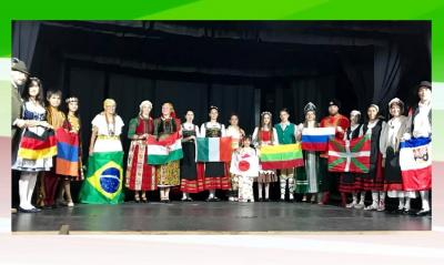 Flags of the countries and communities participating in the 18th edition of the Immigrant Olympic Games in Montevideo