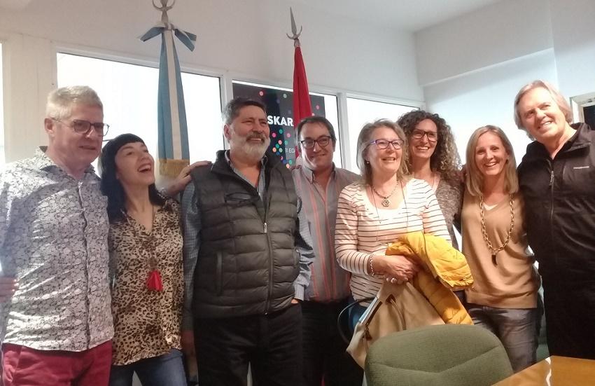 'Baskos de la Confluencia' Euskal Etxeko lagunak FEVAren bileran