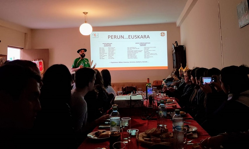 In Peru, the Lima Basque Club joined in with a talk on Euskera in Peru as part of its Day of the Basque Diaspora celebration