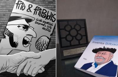 """Ilustración y premio de """"Aquellos enormes ojos vascos"""", de Hernán Digilio"""