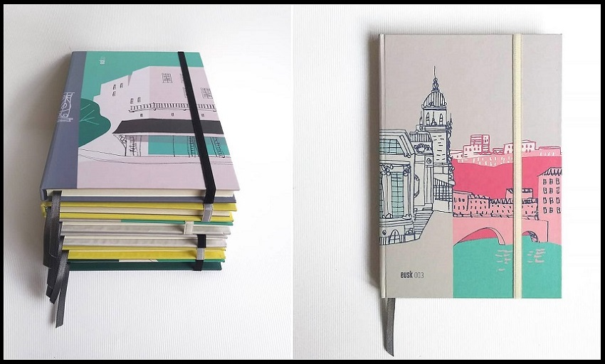 "The line of notebooks ""Gozatu,"" with covers motivated and inspired by Basque, works by Iñaki Echeverria"