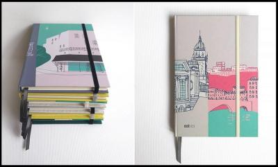 """The line of notebooks """"Gozatu,"""" with covers motivated and inspired by Basque, works by Iñaki Echeverria"""