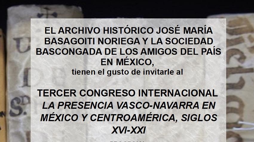 'Euskaldunen eta nafarren presentzia Mexikoko eta Ertamerikako historian, XVI-XXI' Mintegia