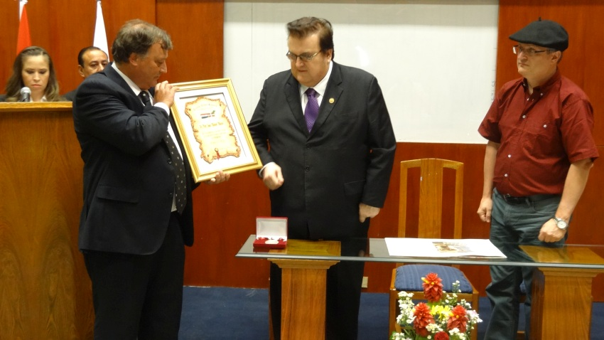 Recognition and diploma to UniNorte president