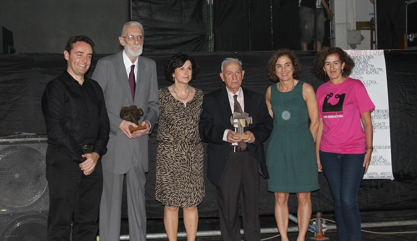 Photo of those honored with the Basque Government