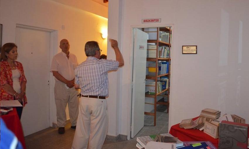 Rezo y bendición para la nueva biblioteca vasca de Saladillo