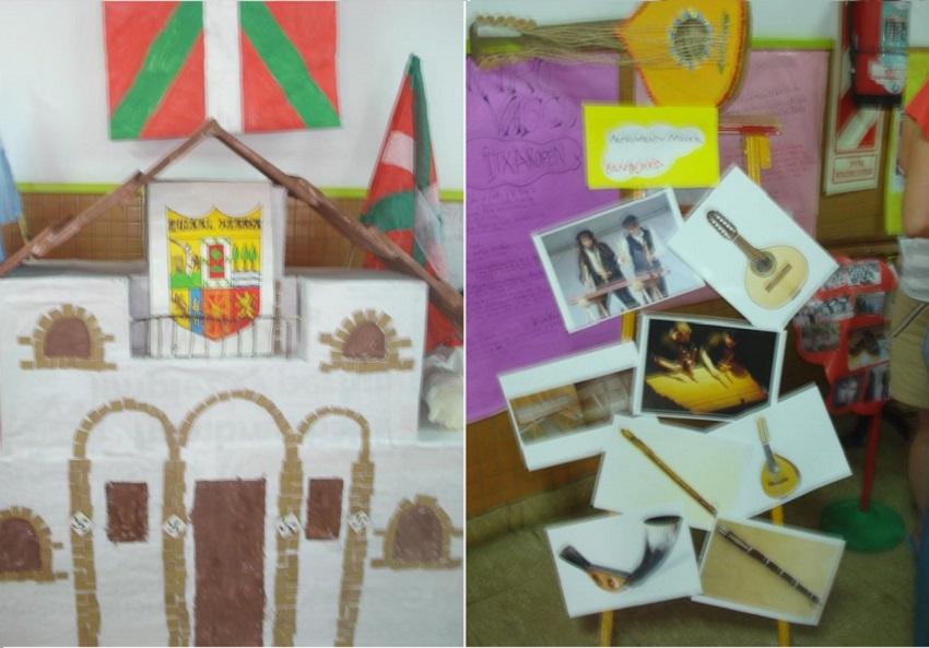 Trabajos manuales realizados por los niños del jardín de infantes Nº 904 de la ciudad de Saladillo
