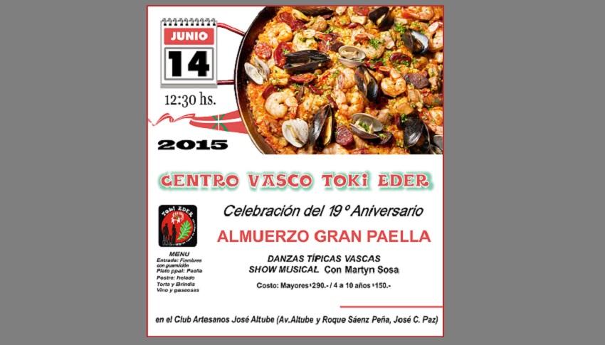 Invitación al 19º aniversario de Toki Eder