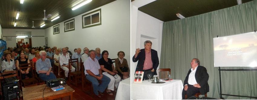 La presentación a cargo de Cesar Arrondo y Fernando Pieske