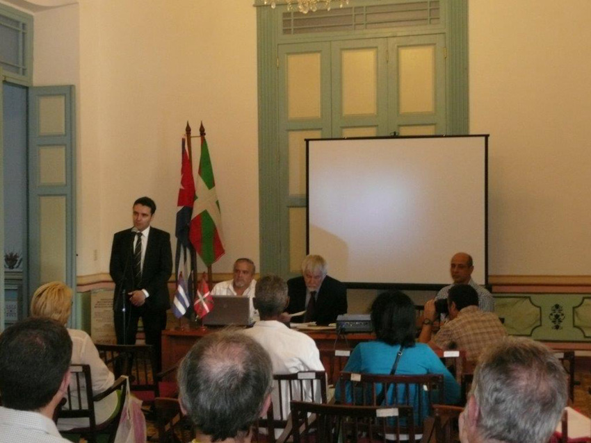 Inauguration of the seminar on Basques in Cuba
