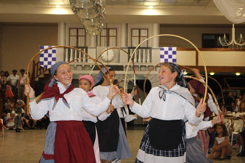 Basque club dancers