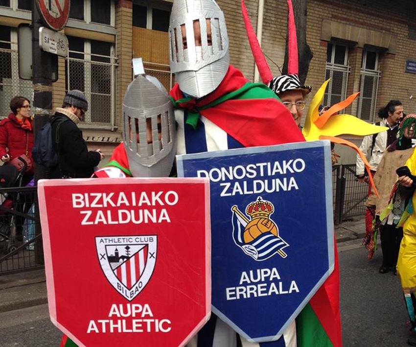 Athleticeko eta Errealeko zaldunak
