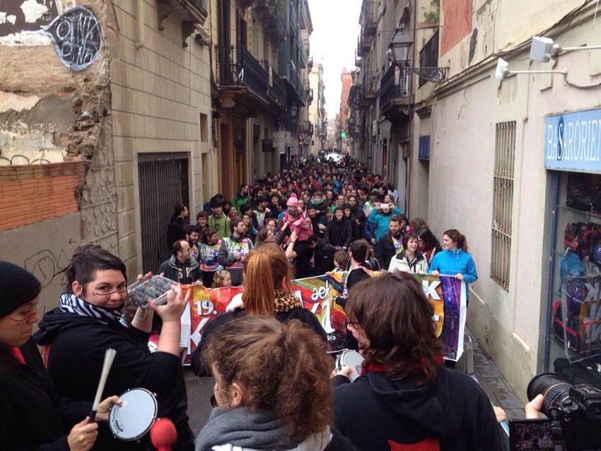 Many people at Korrika in Barcelona