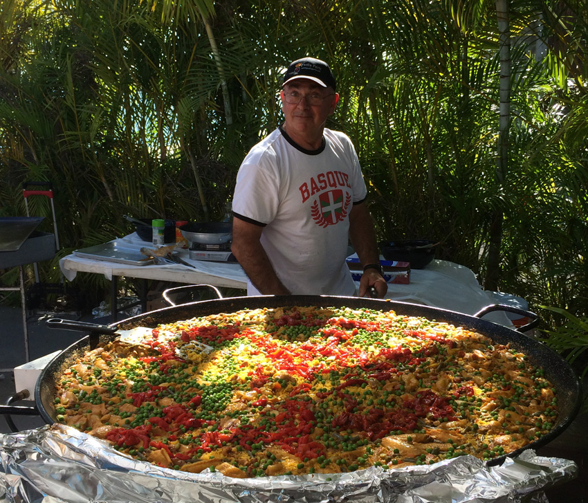 Gigantic paella at Aberri Eguna in Miami