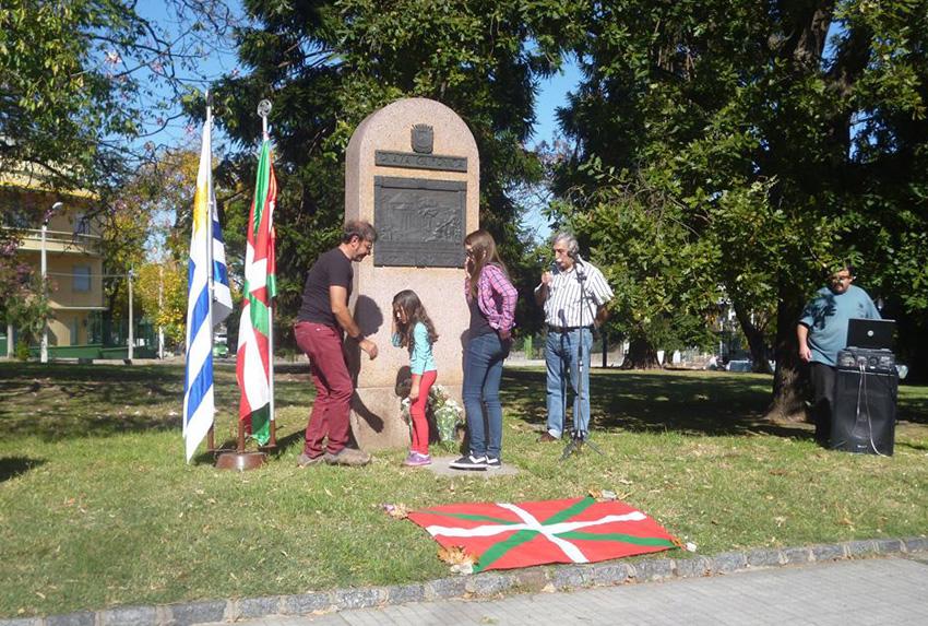 In the Gernika Plaza in Montevideo