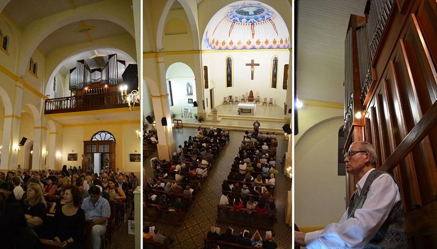 Concierto del pater vizcaíno Pedro Pascual Barturen en la Catedral de Posadas (foto EE)