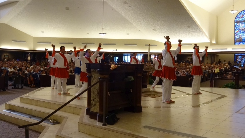 Basque dances on the altar