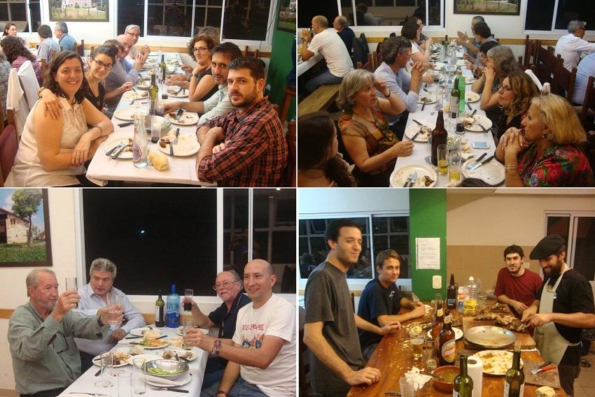 Cena en la Euskal Etxea