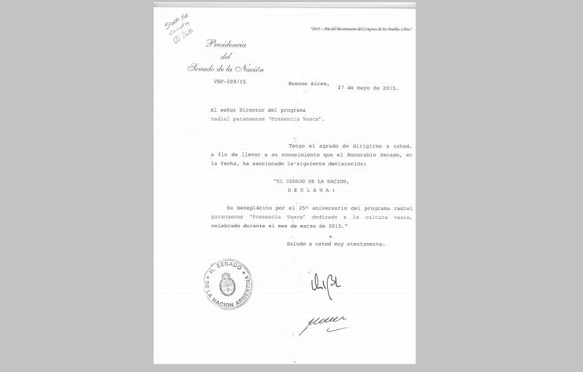 Argentinako Senatuaren Saria