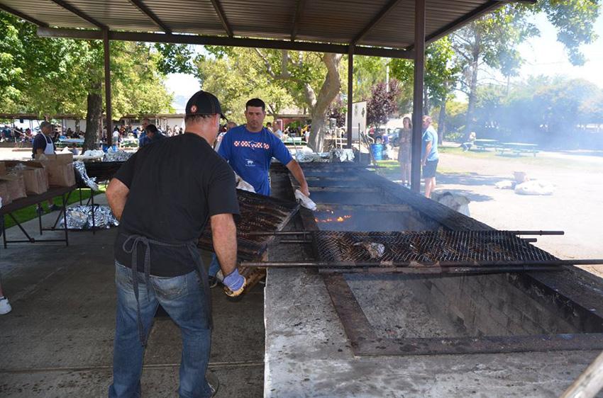 Preparing the BBQ