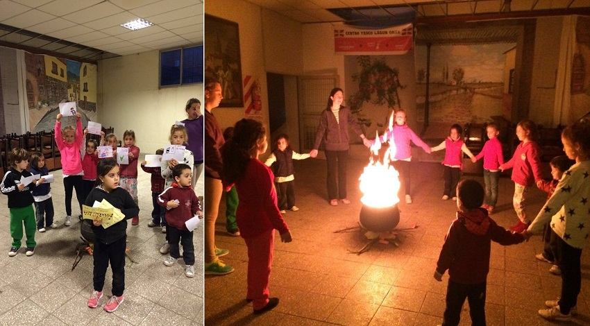 Small bonfire in Pergamino for the children