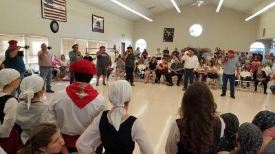 Image from last year's Basque Festival in Rocklin, California with members of its Klika livening up the gathering