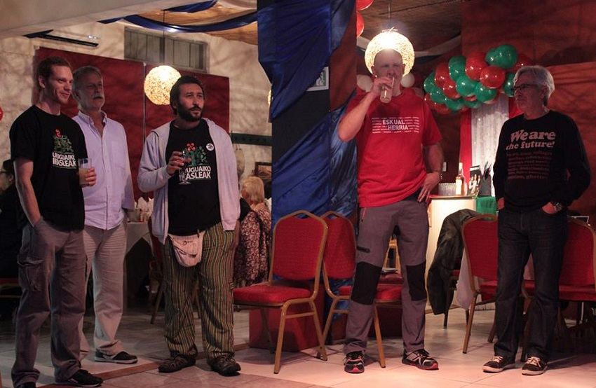 ...speaking in Basque and Basque Karaoke