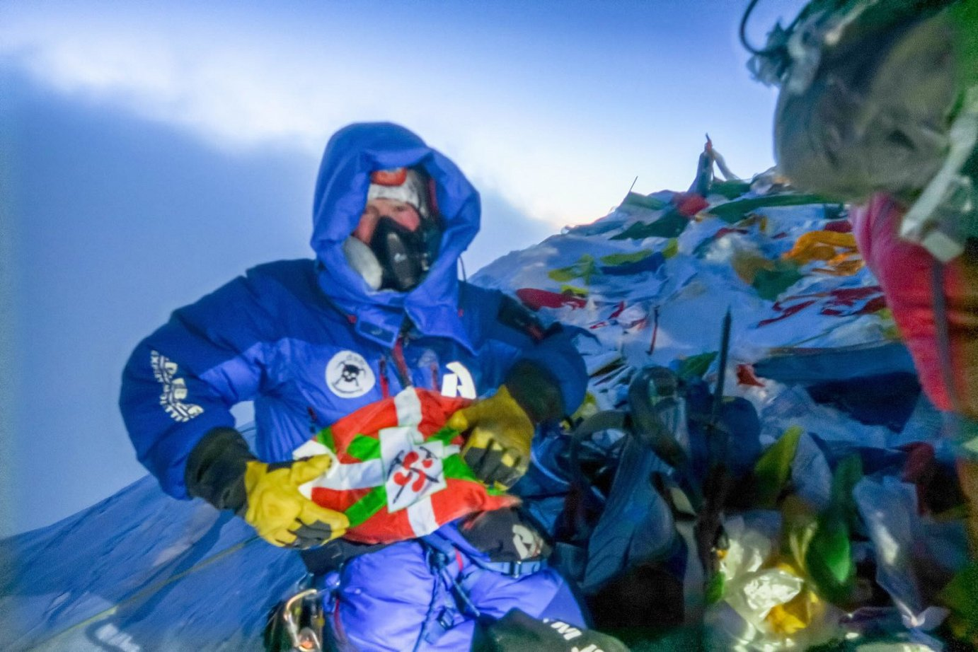 A Basque from Utah at the top of Everest