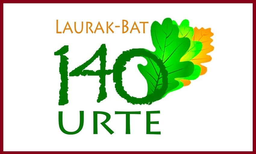 140. urteurrenaren logoa