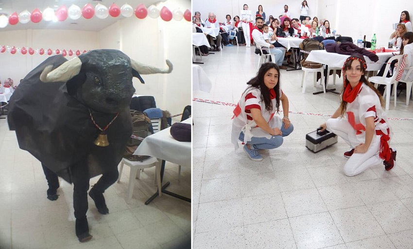 Bulls, running and even wounded at the Basque club in Comodoro Rivadavia