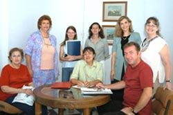 Integrantes de la Comisión de Homenaje al bermeano paranaense Santos Domínguez  en el centenario de su muerte (foto El Diario de Paraná)