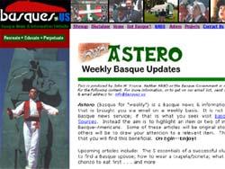 Portada del semanal 'Astero', en basques.us