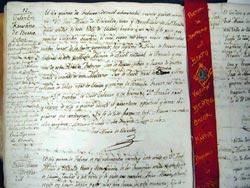 Acta de bautismo del beato Valentín de Berrio-Otxoa, en Elorrio, 15-02-1827 (foto AHEB)