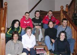 Los jóvenes de Euskal Herria que participaron en el programa 'Hator Hona-Vení a la Argentina' 2005
