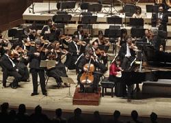Euskadiko Orkestra Sinfonikoaren aurreko emanaldi bat (argazkia EOS)