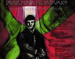 'Javier Mina y el País Vasco' jardunaldien afitxa